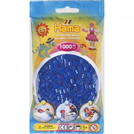Hama 207-36 - Kolor neon niebieski - 1000 koralików midi