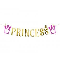 Baner (Girlanda) Princess, 13,5 x 90 cm - PartyDeco