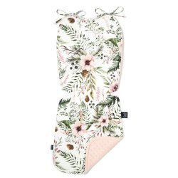 Thick Stroller Pad, Wild Blossom, Powder Pink,La Millou