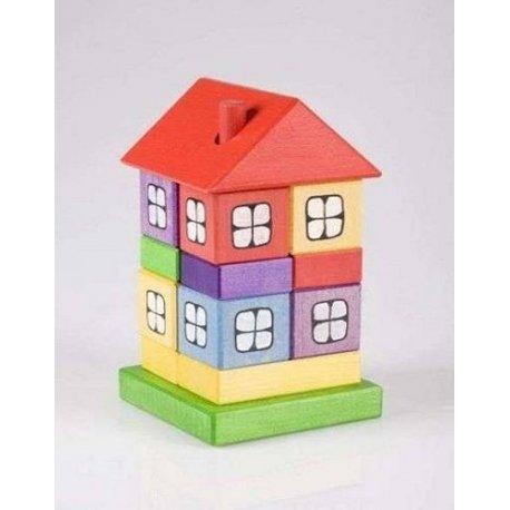 Drewniany domek układanka - Pilch