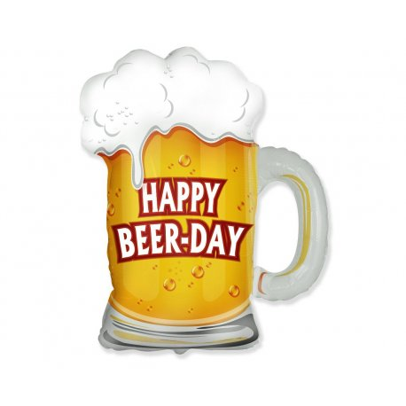 Balon foliowy Kufel Piwa - Happy Beer-Day - 61 cm