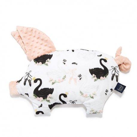 Poduszka Sleepy Pig, Moonlight Swan, powder pink, La Millou