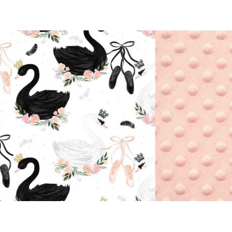 Thick Stroller Pad, Moonlight Swan , Powder Pink, La Millou