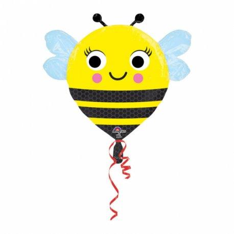 """Balon foliowy 22"""" Pszczółka - żółta w czarne paski"""