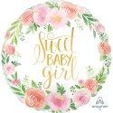 Balon na Narodziny Dziewczynki - Sweet Baby Girl 45 cm