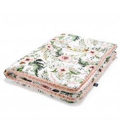 Kocyk Średniaka, Wild Blossom, Powder Pink - La Millou