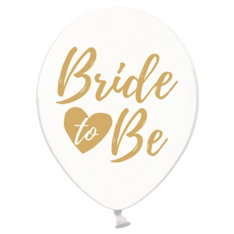 Balon Bride to be - Crystal Clear - 30 cm