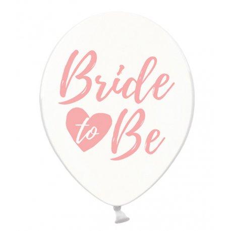 Balon Bride to be - Crystal Clear - Różowy napis - 30 cm