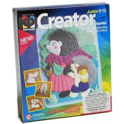 Gipsowe obrazki - Mama, jeż i dziecko - Zestaw kreatywny