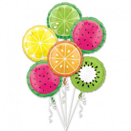 Bukiet - Tropikalne Owoce - 6 balonów