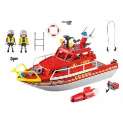 Playmobil 70147 - City Action - Łódź ratownicza straży pożarnej