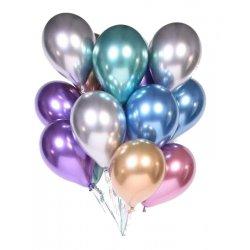 Balony lateksowe chromowane, różne kolory