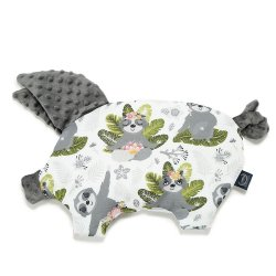 Poduszka Sleepy Pig, Yoga Sloths Squad, Dark Grey, La Millou