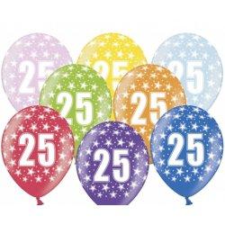 Balony na 25 urodziny - 30 cm - lateksowe, różne kolory