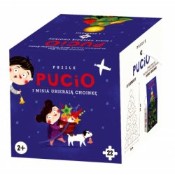 Pucio i Misia ubierają choinkę, puzzle