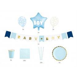 Zestaw dekoracji party - Baby Shower - It's a boy