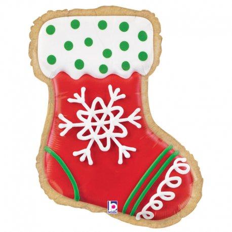 Balon - Skarpeta Św. Mikołaja - Stocking Cookie