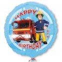 Balon Foliowy Strażak Sam - Happy Birthday - 43 cm