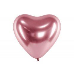 Balon kształcie serca, Glossy Złoty Róż