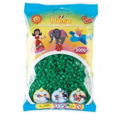Hama Midi - koraliki zielone