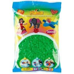 Koraliki fluorescencyjne - Zielone Hama Midi 201-42