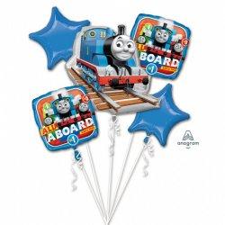 Bukiet balonów foliowych Tomek i Przyjaciele - Zestaw 5 balonów