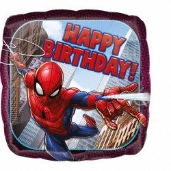 Balon Happy Birthday - Spider-Man 43 cm