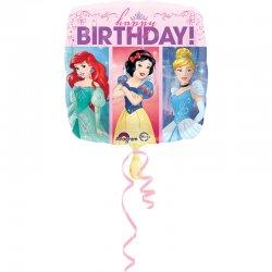 Księżniczki Disneya - Urodzinowy Balon Foliowy - 43 cm - Happy Birthday