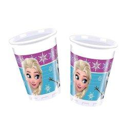 Kubeczki Urodzinowe Frozen - Kraina Lodu, 8 sztuk plastikowych kubków 200 ml