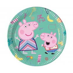 Talerzyki papierowe Świnka Peppa - Peppa Pig 8 szt, 20 cm