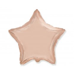 Balon gwiazdka różowo-złota , foliowy 18 cali