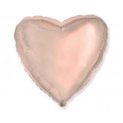 Balon serce różowo-złote , foliowy 18 cali