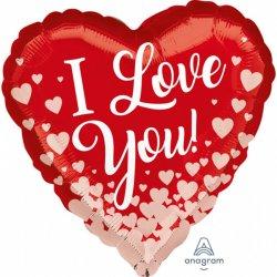 Balon I Love You - Kocham Cię - Serce 43 cm