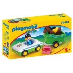 Playmobil 70181 - Samochód z przyczepą dla konia 1.2.3.