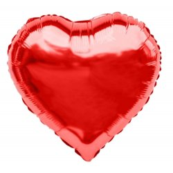 """Balon Czerwone serce 28"""" (70 cm), sam lub napełniony helem"""