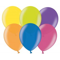 Balony lateksowe - Metaliczne Mix - 14 cali - 100 sztuk