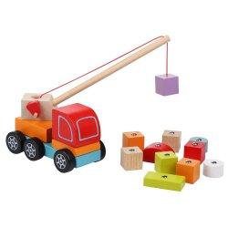 Dźwig drewniany z magnesem - Cubika
