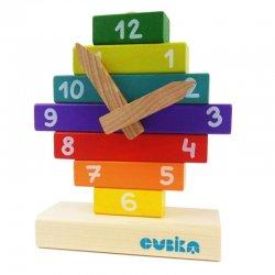 Drewniany zegar do nauki - Cubika