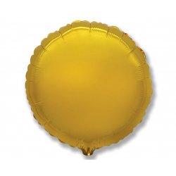 """Balon foliowy okrągły 18"""" złoty"""