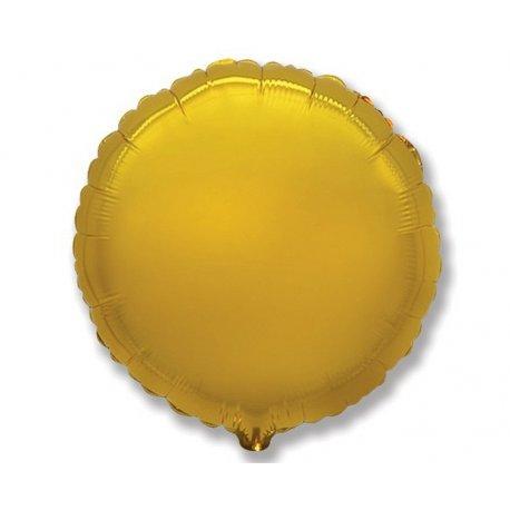 """Balon foliowy okrągły 18"""" żółty"""