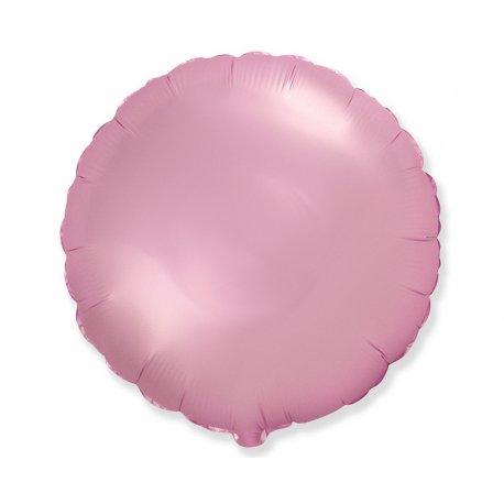 """Balon foliowy okrągły 18"""" jasnoróżowy"""