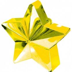 Złota gwiazdka - obciążnik do balonów