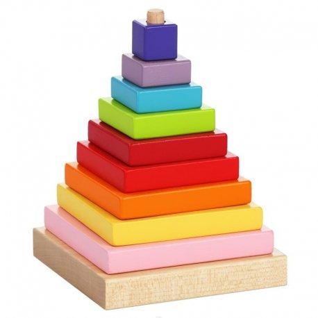 Piramida drewniana dla dzieci - edukacyjna - Cubika