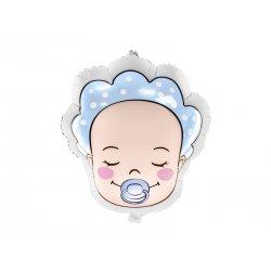 """Balon foliowy """"Bobas chłopiec"""" - Baby Shower - 45 cm"""