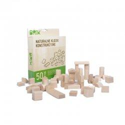 Klocki Drewniane 50szt BRIK- naturalne klocki z drewna bukowego
