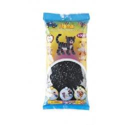 Hama 205-18 - Koraliki czarne midi 6000 szt w woreczku