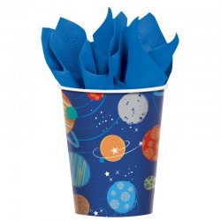 "Kubeczki papierowe ""Kosmos"" - 266 ml, 8 szt."