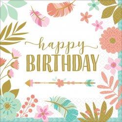 """Serwetki papierowe """"Happy Birthday"""" - 33 x 33 cm, 16 szt."""