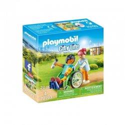 Playmobil 70193 - Pacjent na wózku inwalidzkim