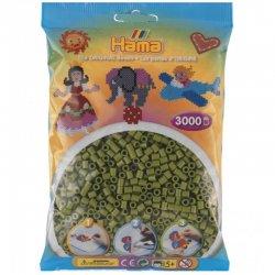Hama 201-84 kolor oliwkowy, Dodatkowe koraliki Hama Midi 3000 szt